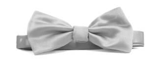 Silver Italian Satin Pre-tied bow