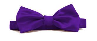 Violet Italian Satin Pre-tied bow