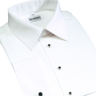 Pleated front Spread Collar