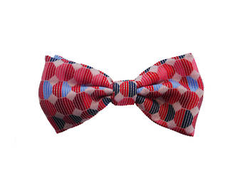 Red geometric Pre-tied Bow