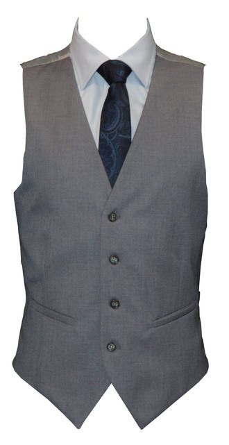 Reuben Light grey slim fit Waistcoat