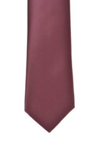 Wine Satin Tie