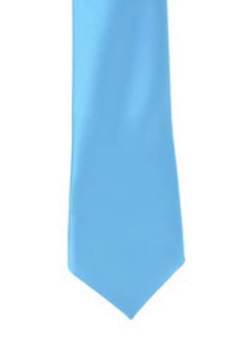 Dark Aqua Satin Tie