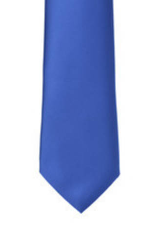 Light Cobalt Satin Tie