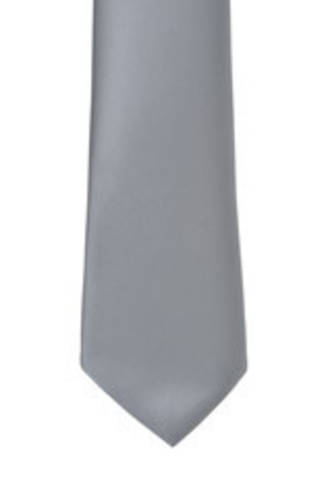 Charcoal Satin Tie