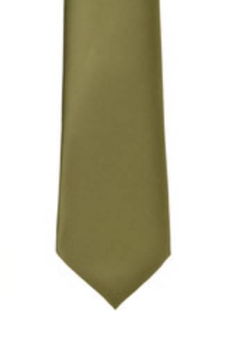 Olive Satin Tie