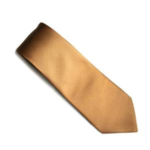 Beige self pattern tie