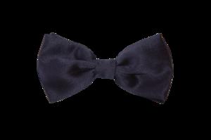 Navy Satin Bow Tie