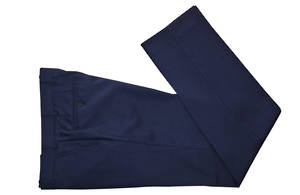 Blue self check slim fit Trouser