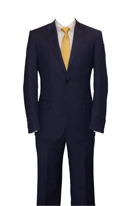 Blue self check slim fit suit