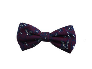 dark red pattern Pre-tied Bow