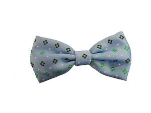 Light blue diamond Pre-tied Bow