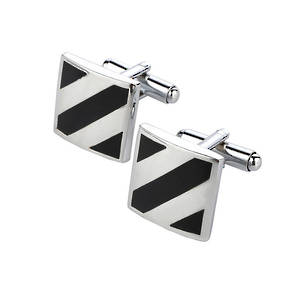 Diagonal stripe cufflinks