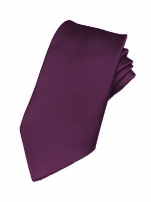 Purple Italian Satin Pre-tied bow