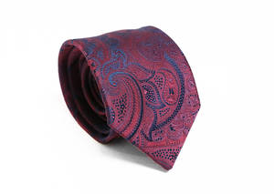 Burgundy Paisley tie