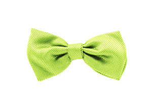Lime Jacquard Pre-tied Bow