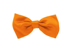 Orange Jacquard Pre-tied Bow