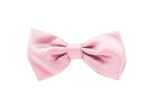 Pink Jacquard Pre-tied Bow