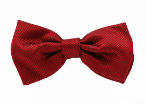 Red Jacquard Pre-tied Bow