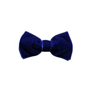 Royal Blue Velvet Pre-tied Bow