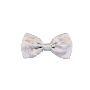 Champagne Paisley Pre-tied Bow