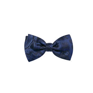 Navy Paisley Pre-tied Bow