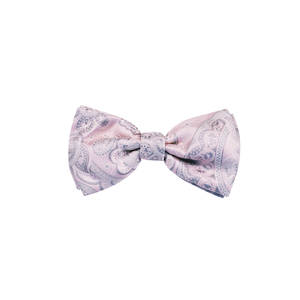 Pink Paisley Pre-tied Bow
