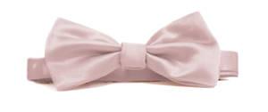 Blush Italian Satin Pre-tied bow