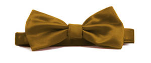 Bronze Italian Satin Pre-tied bow
