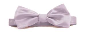 Lilac Italian Satin Pre-tied bow