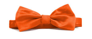 Orange Italian Satin Pre-tied bow