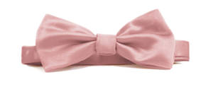 Rose Italian Satin Pre-tied bow