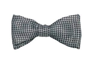 Black & White Houndstooth bow tie