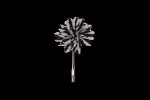 Black & White stripe Lapel Pin