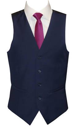 Rich Blue slim fit Waistcoat