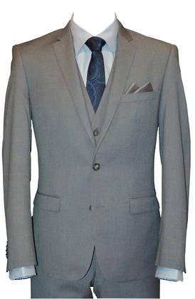 Reuben Light grey slim fit Jacket