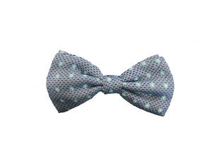 Blue circle Pre-tied Bow