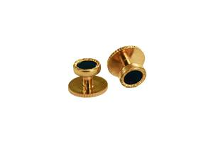 Set of 4 round Gold shirt studs