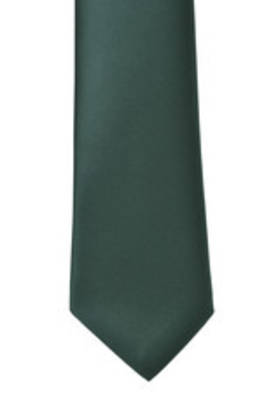 Bottle Green Satin Tie