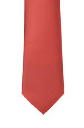 Bright Red Satin Tie
