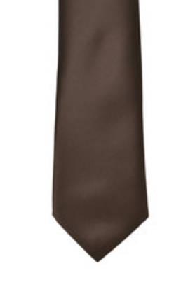 Chocolate Satin Tie