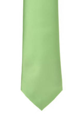 Apple Green Satin Tie