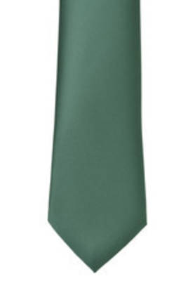 Light Bottle Green Satin Tie