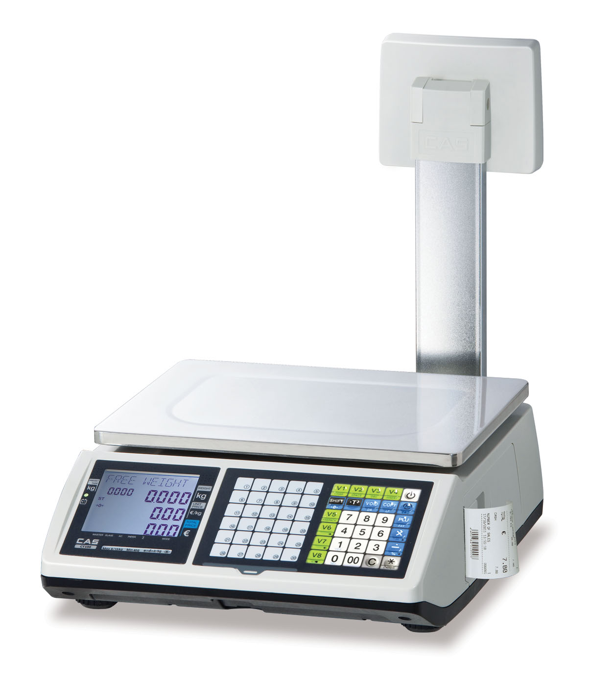 CAS CT100 Ticket Printing Scale with Pole