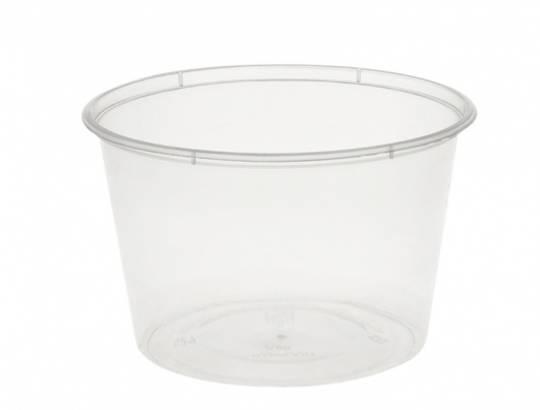 Containers ROUND plastic 500ml / 16oz (50)