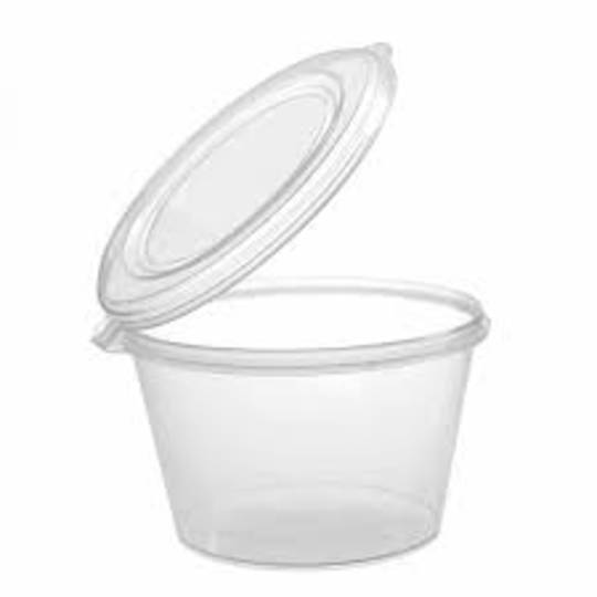50ml Container ATTACHED LID (50)