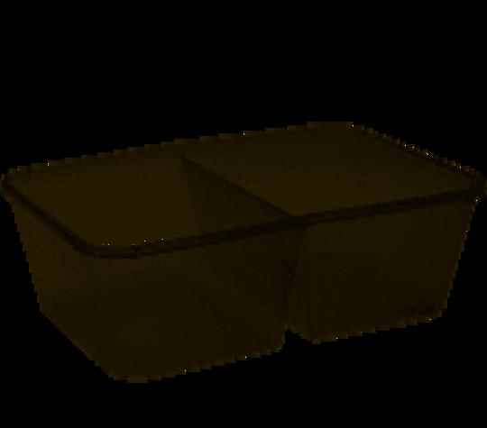 Container PLASTIC 2 COMPARTMENT 750ml REC (50)