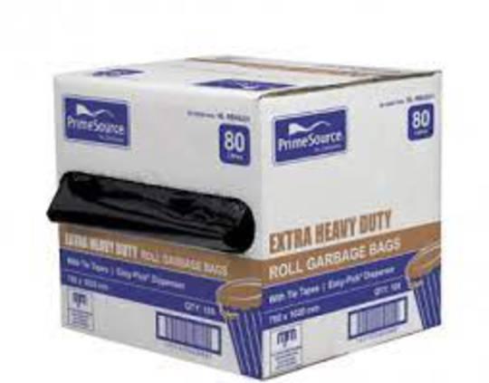 Rubbish BOX  80L Bag Roll (100) 780 x 1020