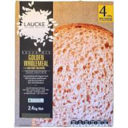 Laucke Bread Mix 2.4kg Wholemeal (Makes 4 Loaves)