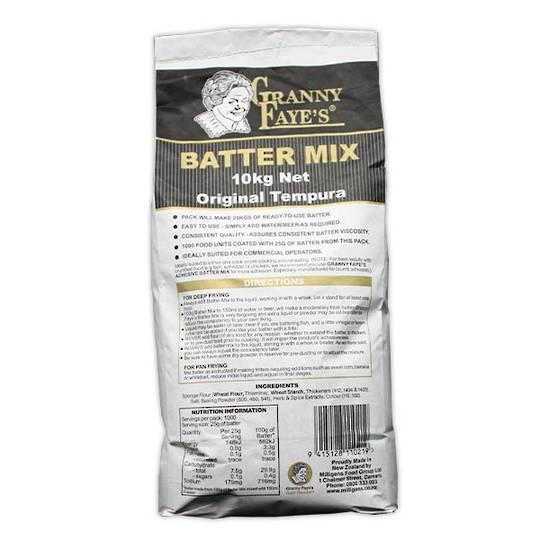 Battermix Granny Fayes 10kg TEMPURA